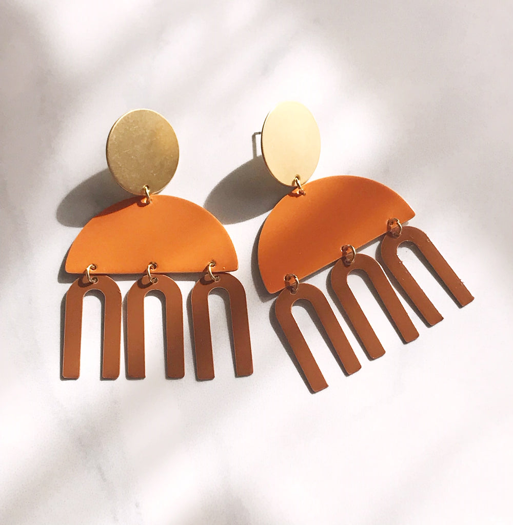 Metro Earrings - Squash