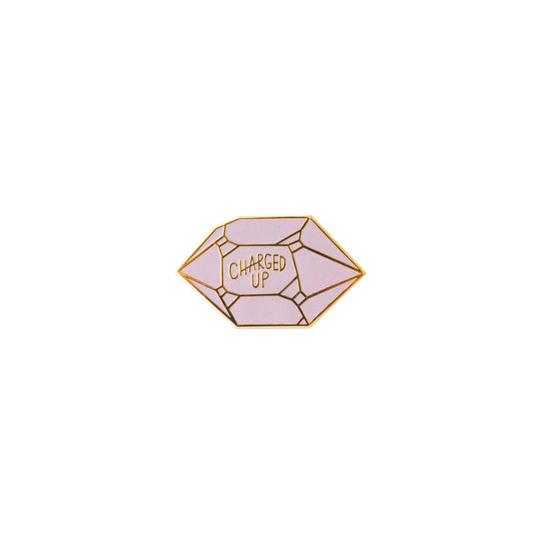 Yeah Right Press - Charged Up Crystal Enamel Pin