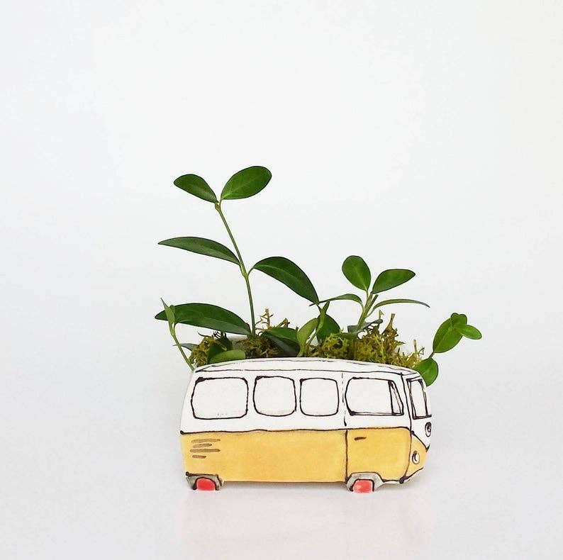 Small Yellow Westfalia Planter