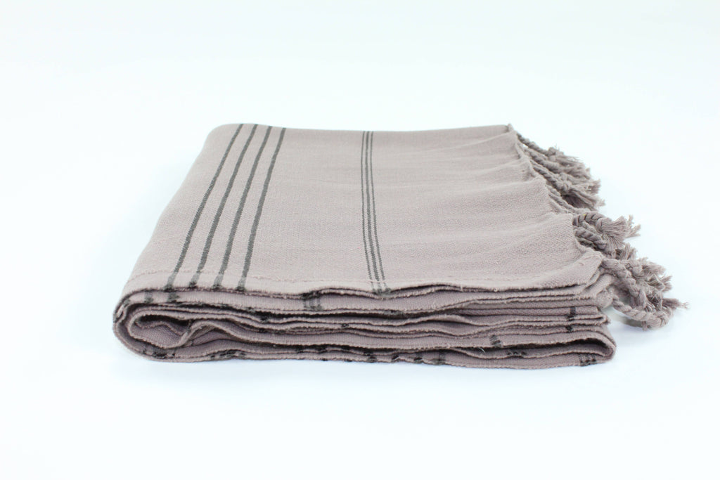 TURKISH LINEN & TOWELS, LLC - Premium Turkish Classic Striped Peshtemal Towel
