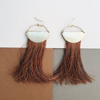 On The Move: Pure Silk Tassel Earrings