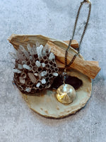 Brass Puff Disc Necklace