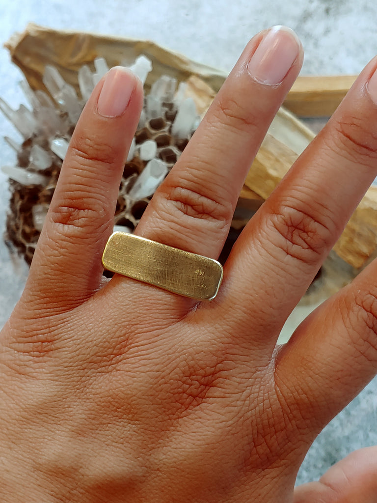 Brass Bar Ring
