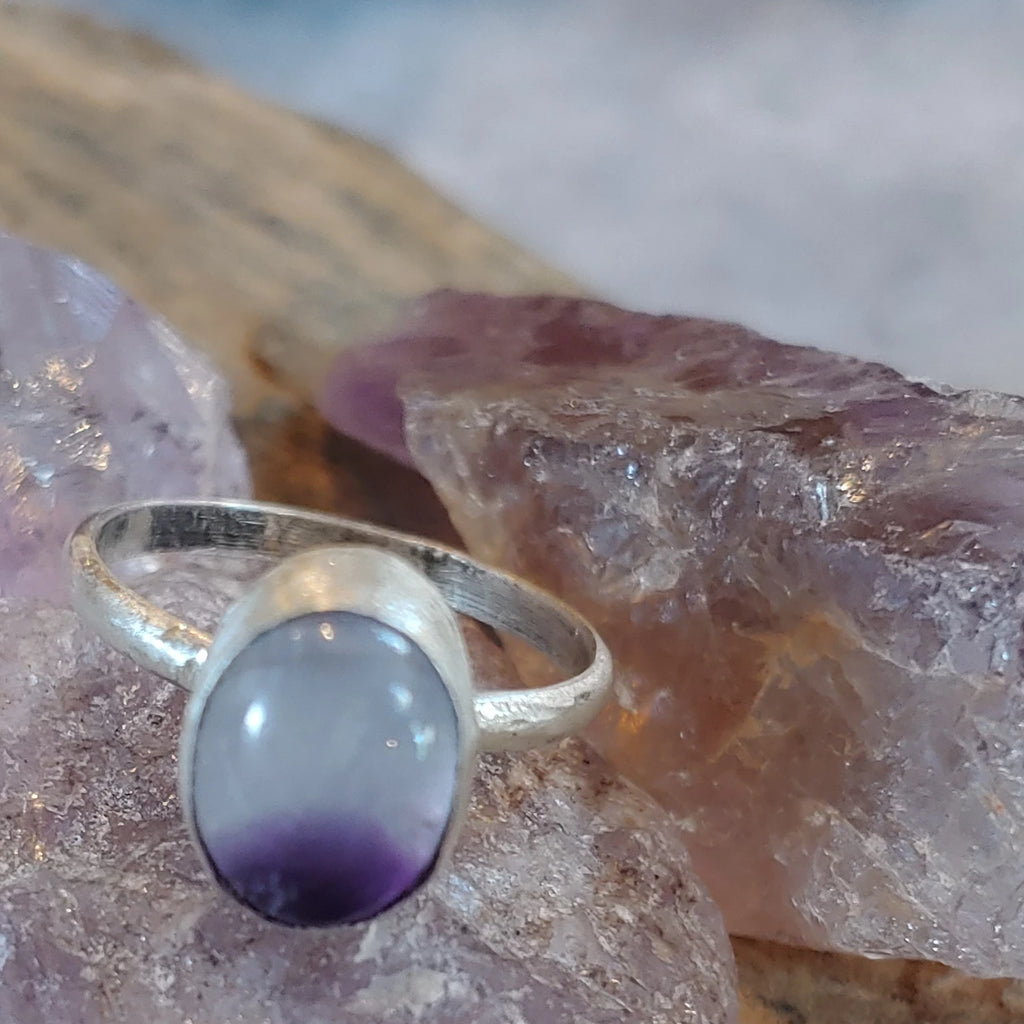 Amethyst Oval Sterling Silver ring