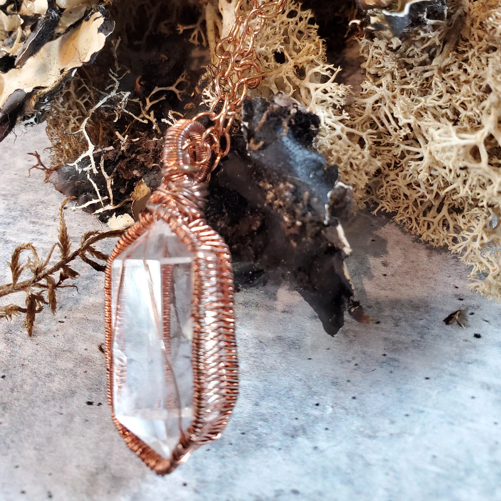 Crystal Point Caged Pendant