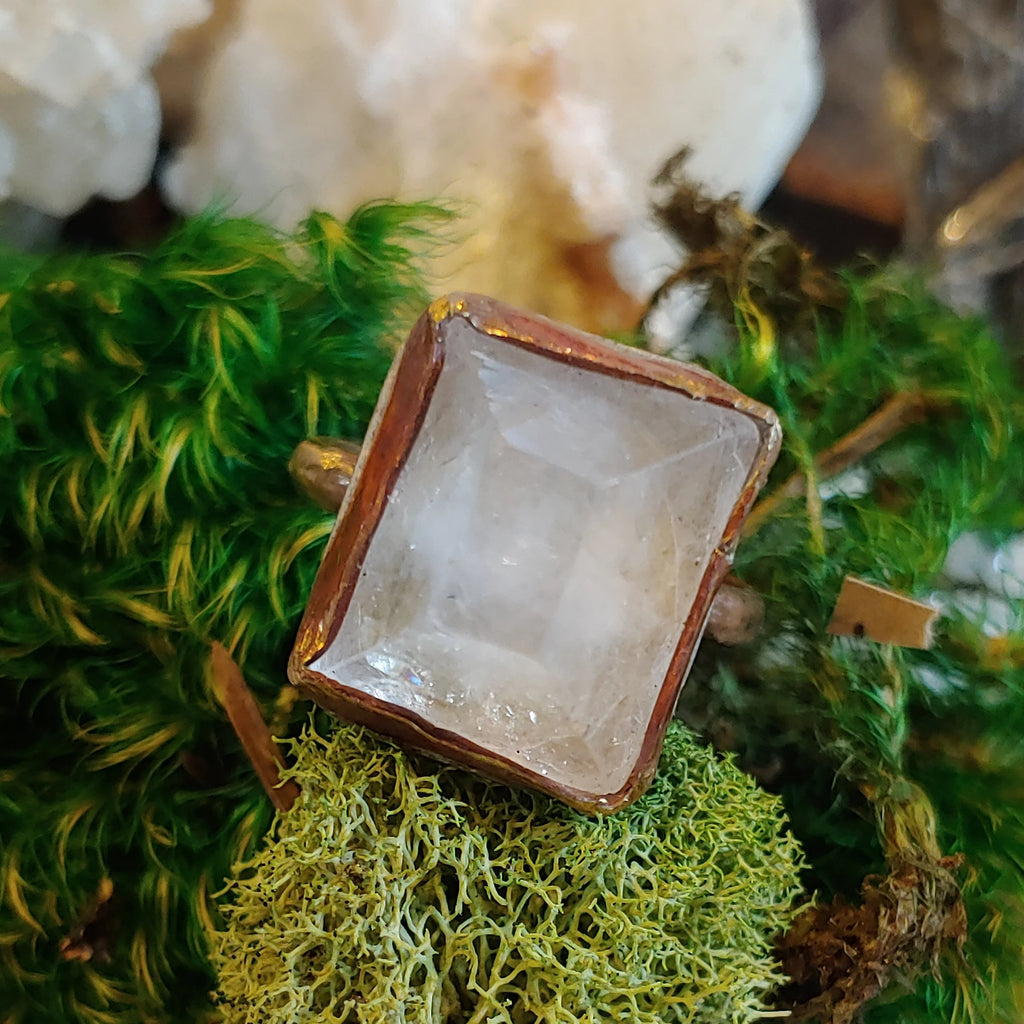 Apophyllite Pyramid Ring
