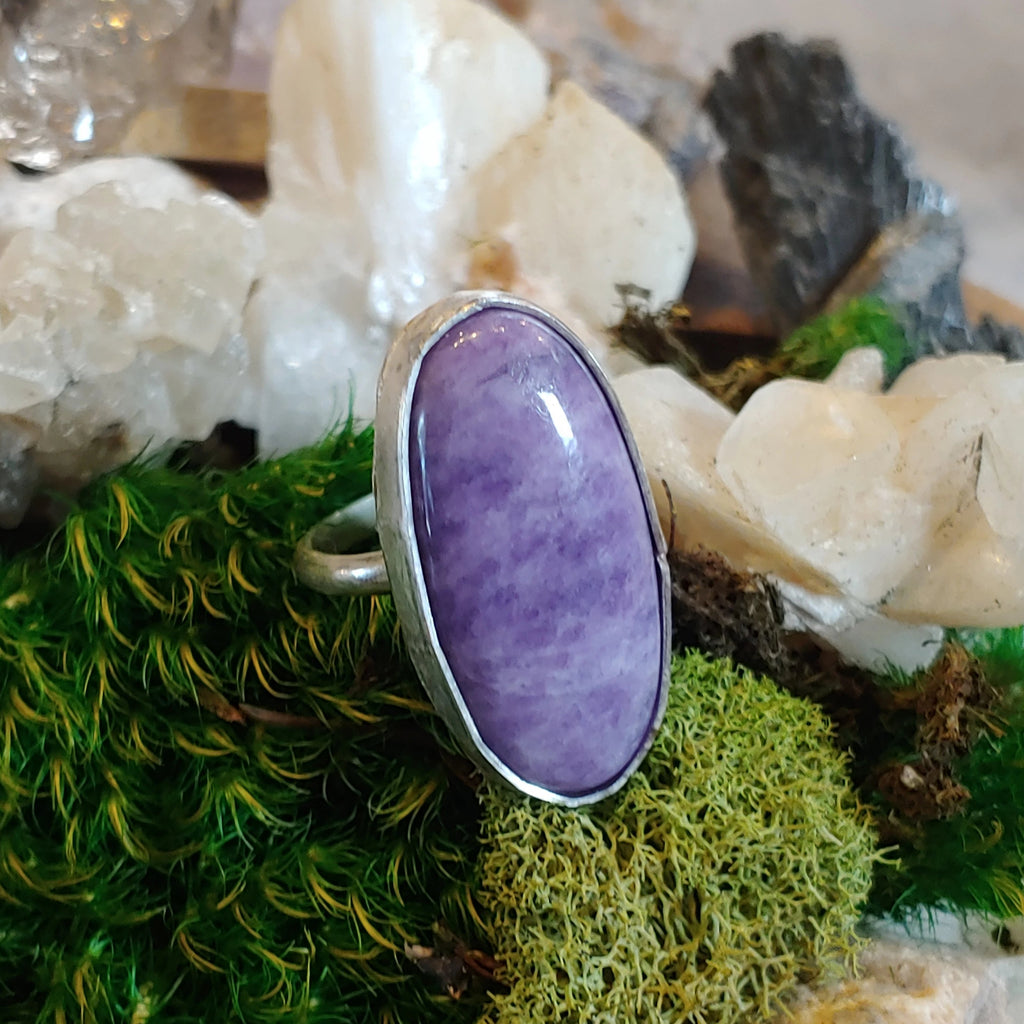 Sugilite Oval Ring