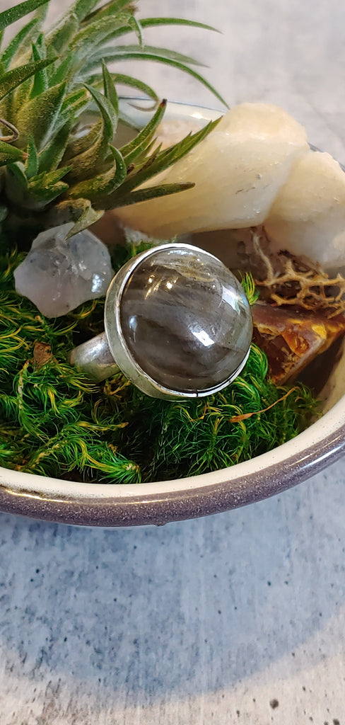 Labradorite Circle Ring