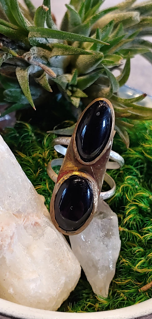 Double Agate Ring