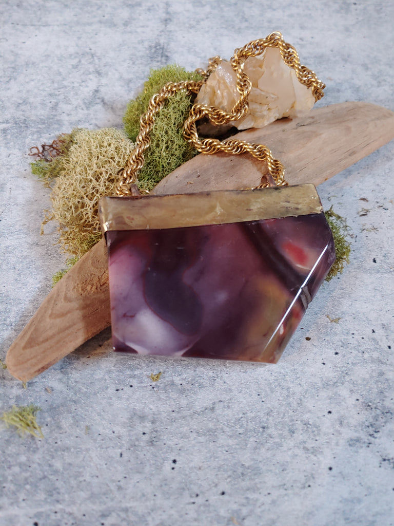 Purple Mookaite Slab Necklace