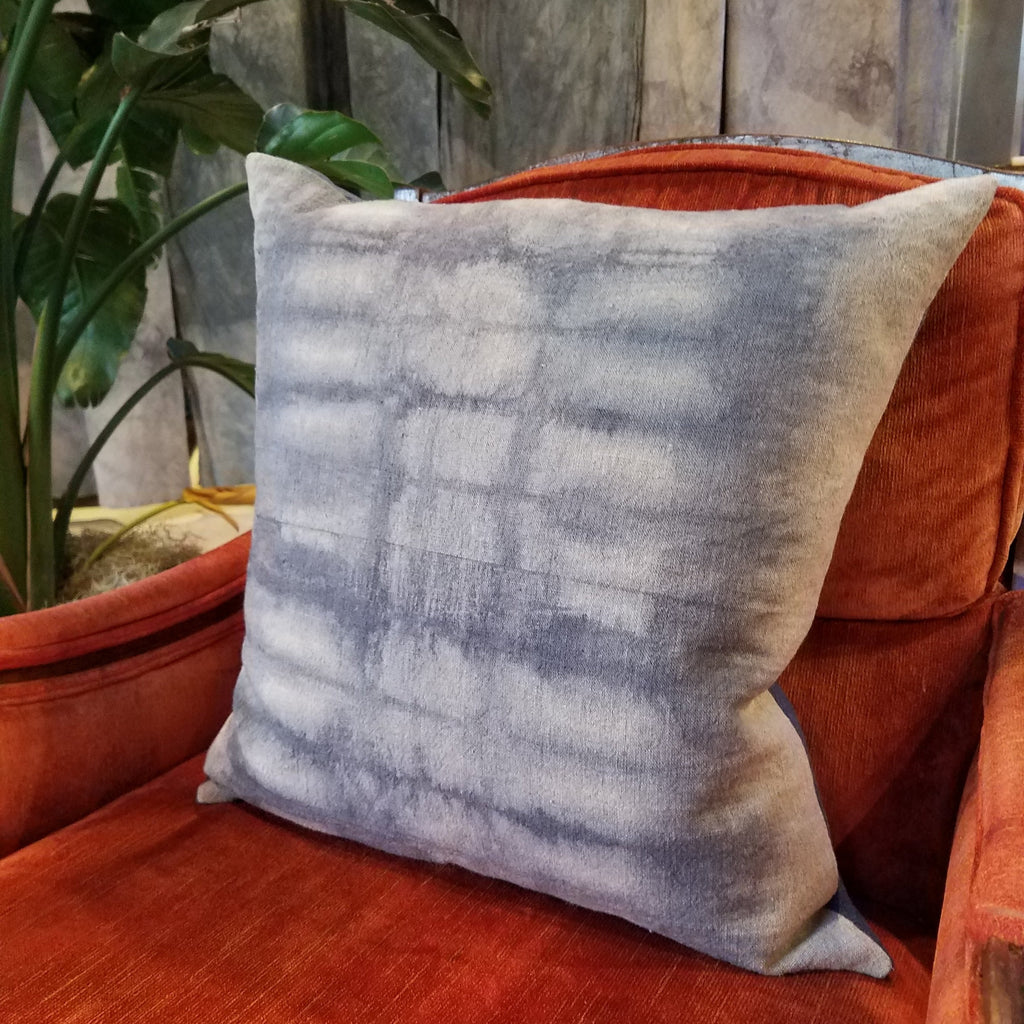 Hand-dyed Textured Linen Pillow