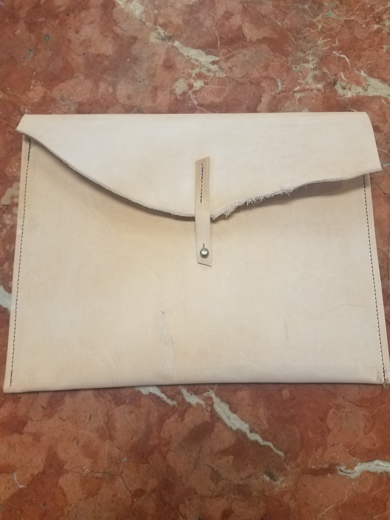 Leather iPad Sleeve With Clasp
