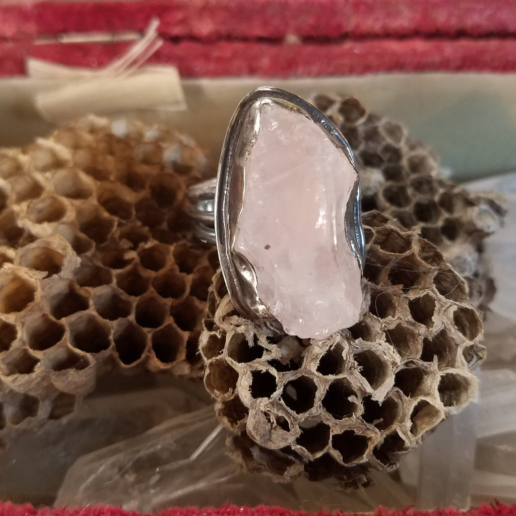 Rose Quartz Free Formed Ring