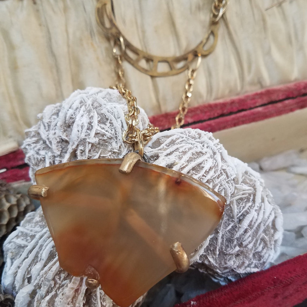 Agate Cutout Necklace