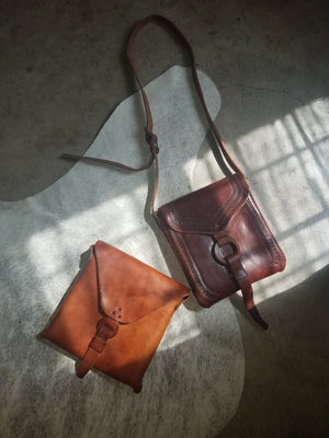 Solid Mexican Leather Bag