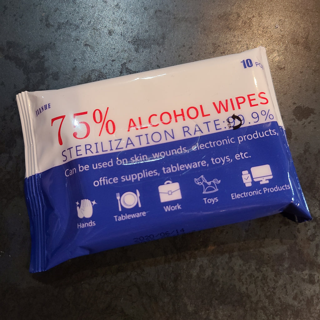 75% Alcohol Wipes Travel Pack