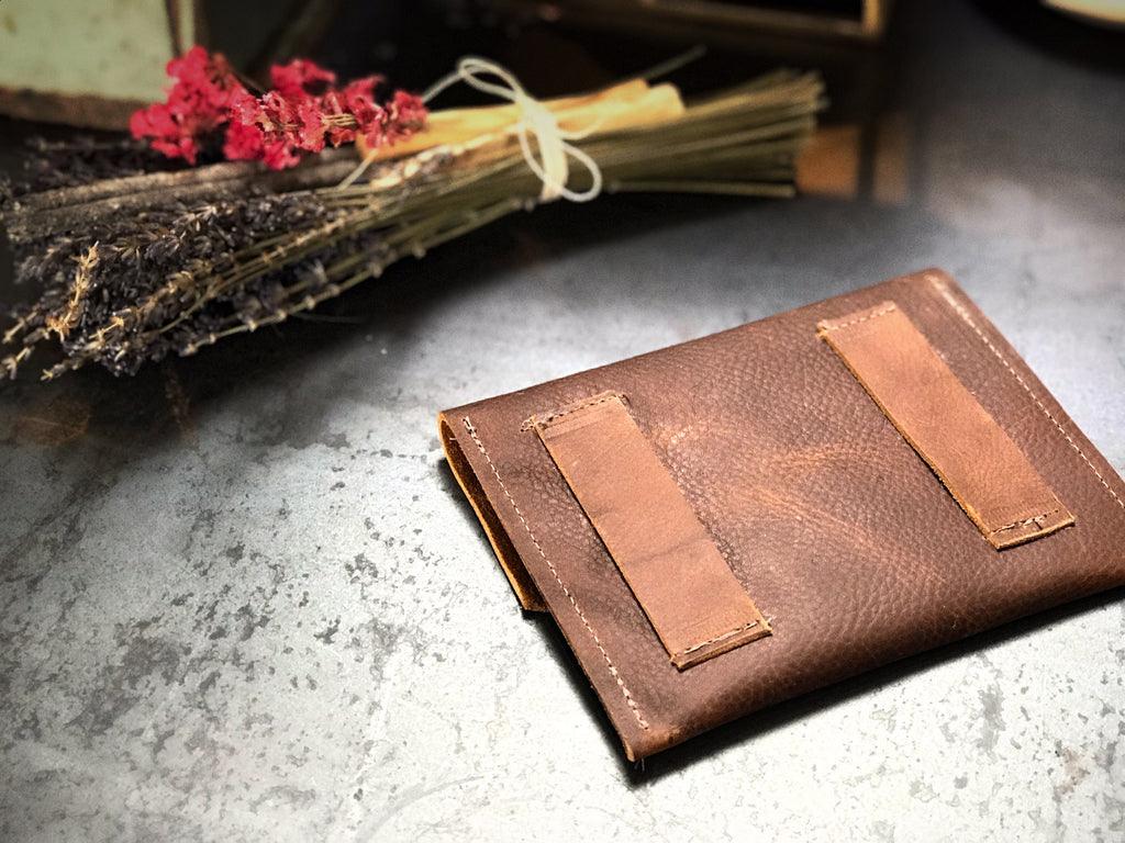 Leather Wallet with Belt Loops