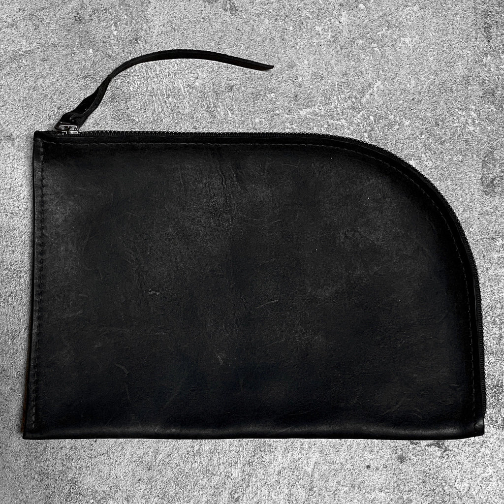 Matte Leather Clutch in onyx, by Admonish.