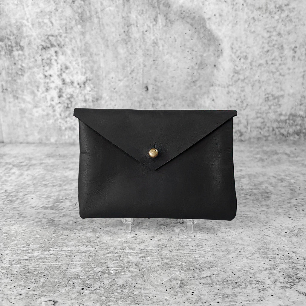 Soft Leather Card Holder: Onyx