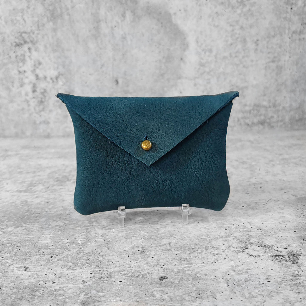 Soft Suede Card Holder : Deep Teal