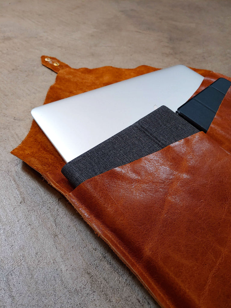 Leather Laptop / Document Sleeve