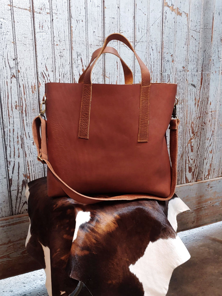 The Chicago Tote - Saddle Leather