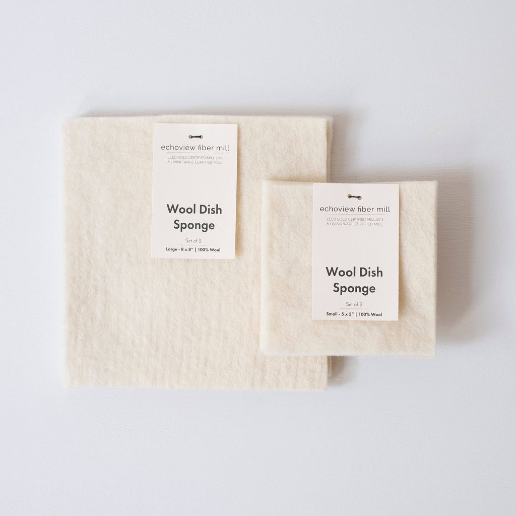 Wool Dish Sponge - Set of 2