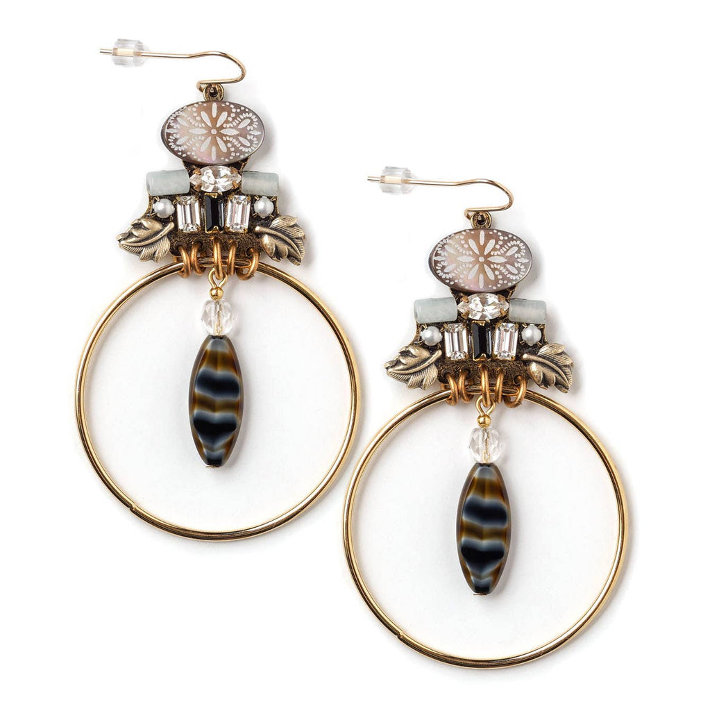 Rhinestone Tiger Earrings