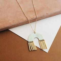 Tumble - Abode: Gold Filled Long Necklace Geometric Necklace