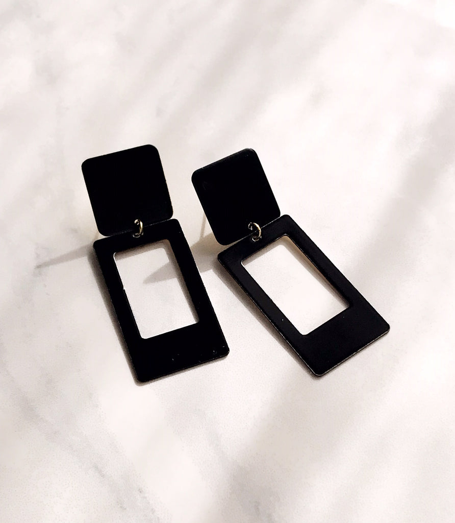 Portrait Earrings - Night