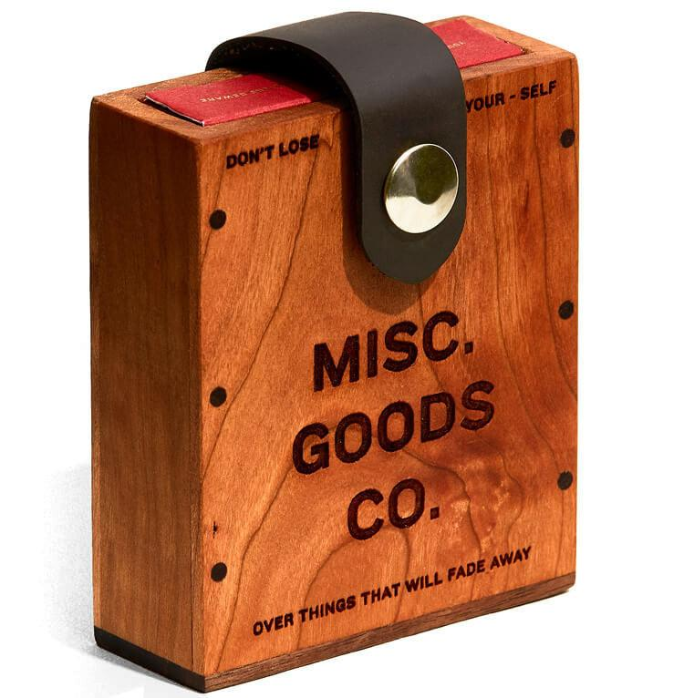 Misc Goods Co. - Wooden Hard Case