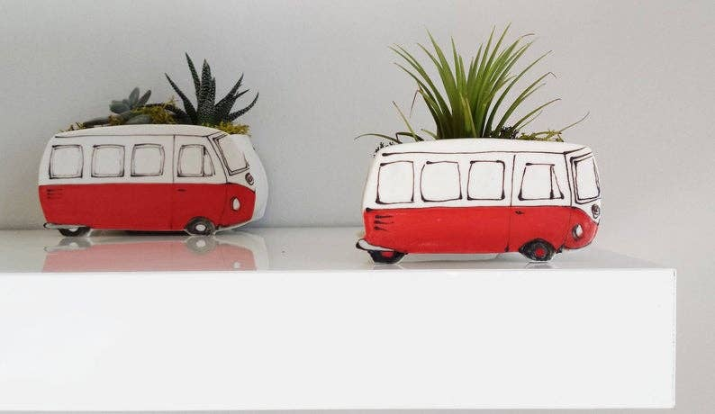 Small Red Westfalia Planter