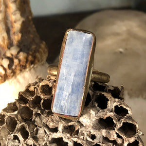 Ribelle Studio Blue Kyanite Brass Ring
