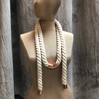 Wrap Rope Necklace - Cloud