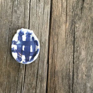 Blue & White Small Striped Bowl