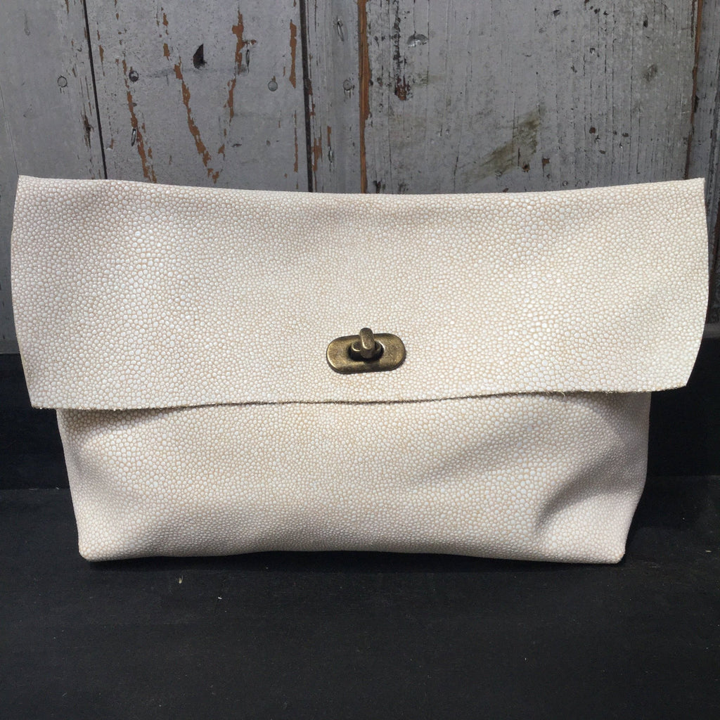 Lizzo White Leather Clutch