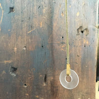 Lucite Open Circle Necklace