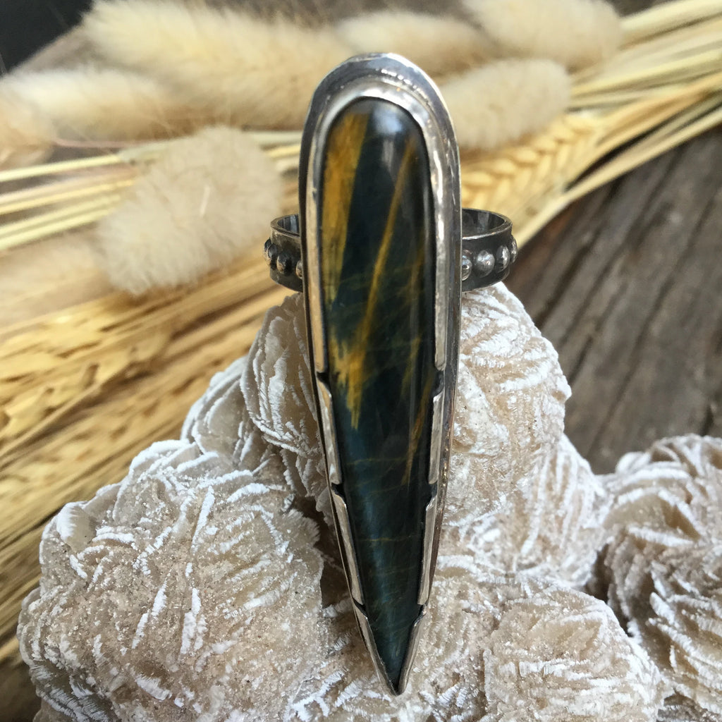 Tigers Eye Talon Ring