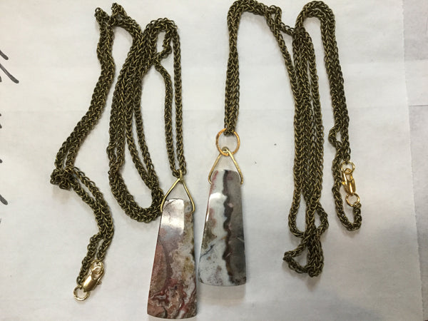 Anna Leah Long Chain Mexican Agate Necklace