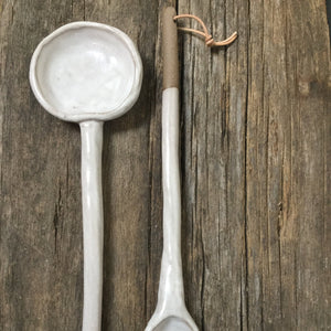 Large White Spoons