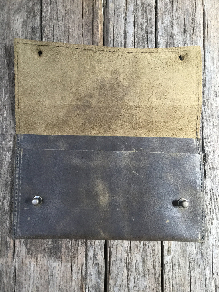 Leather Wallet with Pocket