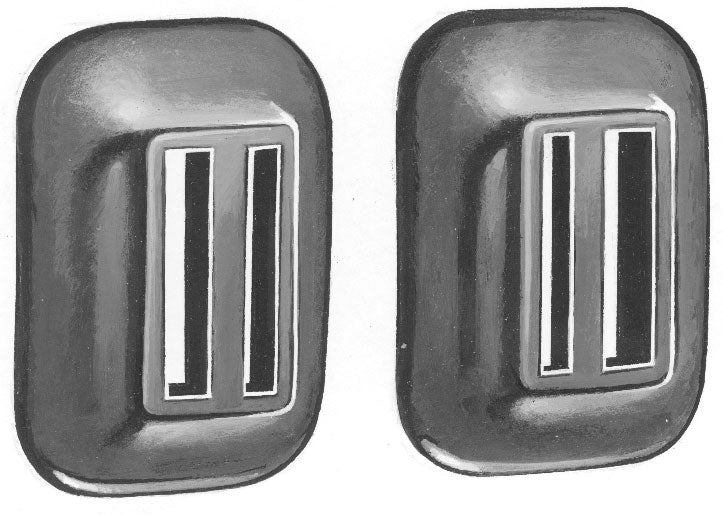 1935 CAR FRONT BUMPER ARM GROMMETS