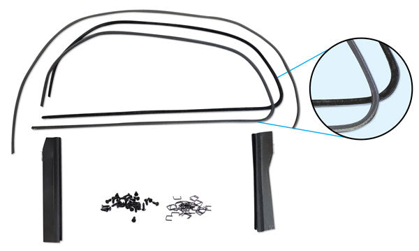 1935-36 3/W COUPE FR DOOR WINDOW CHANNEL KIT, SS