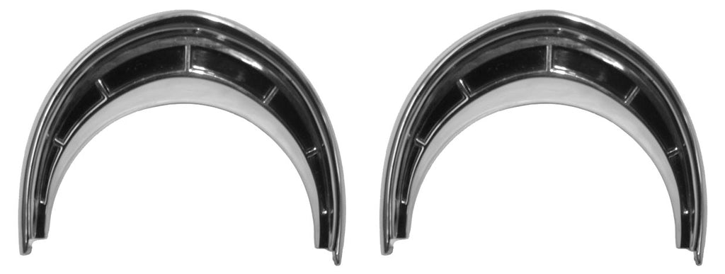 1955-56 CAR HEADLIGHT DOOR TRIM RINGS