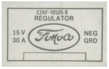 Load image into Gallery viewer, 1962-64 PICKUP VOLTAGE REGULATOR DECAL W/AIR