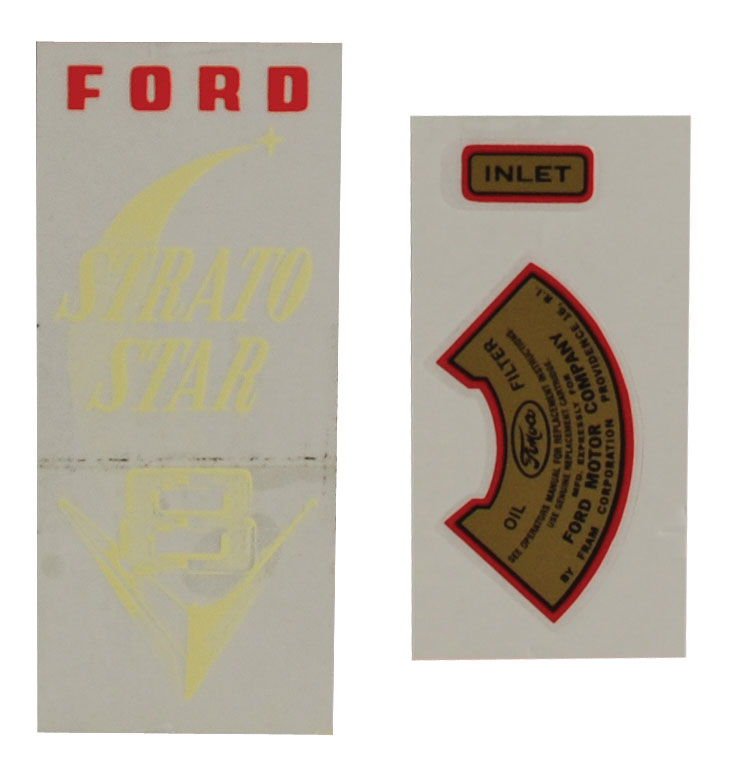 1952-53 PICKUP OIL FILTER DECAL (3 PC SET)
