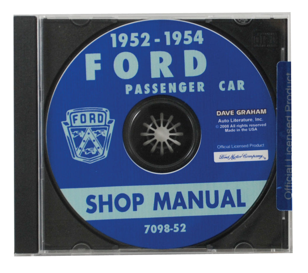 1952-54 CAR SHOP MANUAL CD