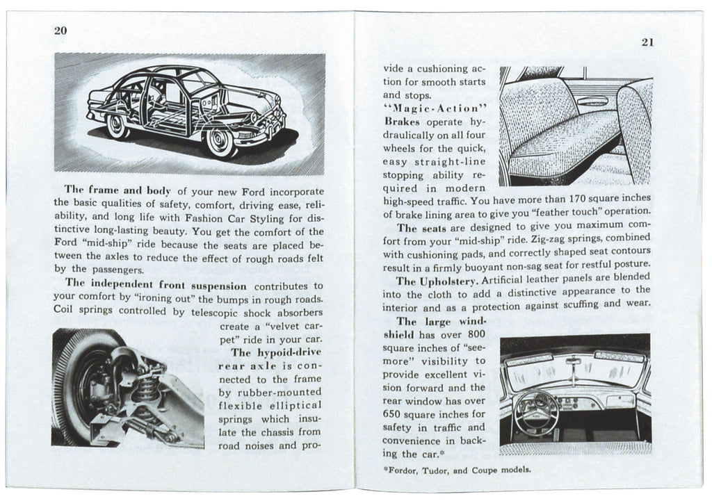 1951 CAR OWNERS MANUAL