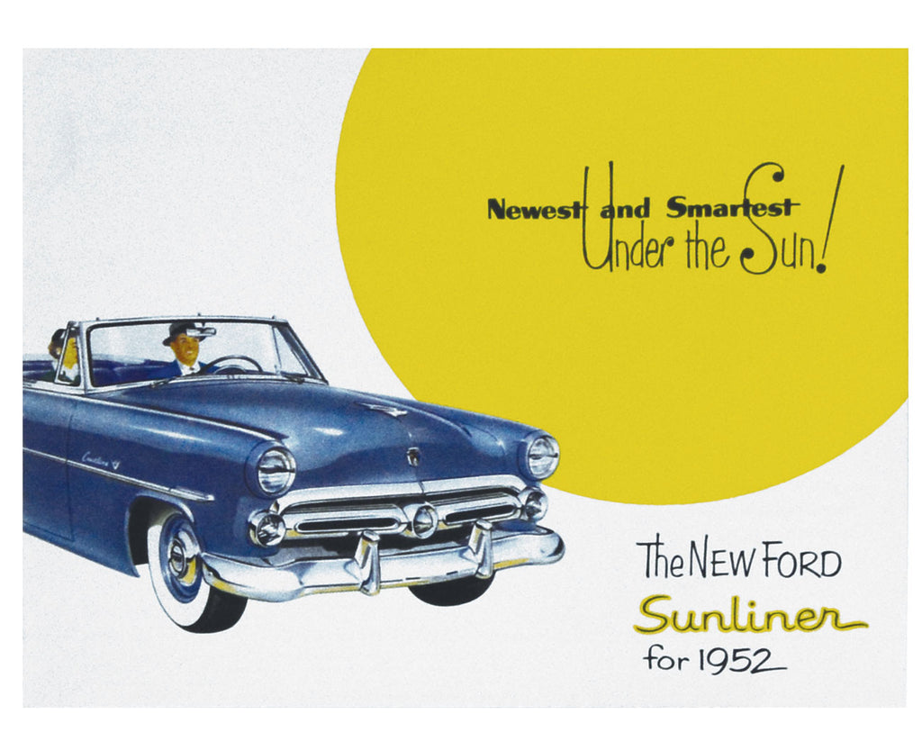 1952 SUNLINER CONVERTIBLE COLOR SALES BROCHURE