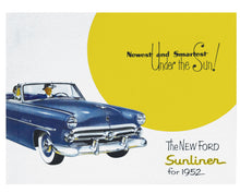 Load image into Gallery viewer, 1952 SUNLINER CONVERTIBLE COLOR SALES BROCHURE